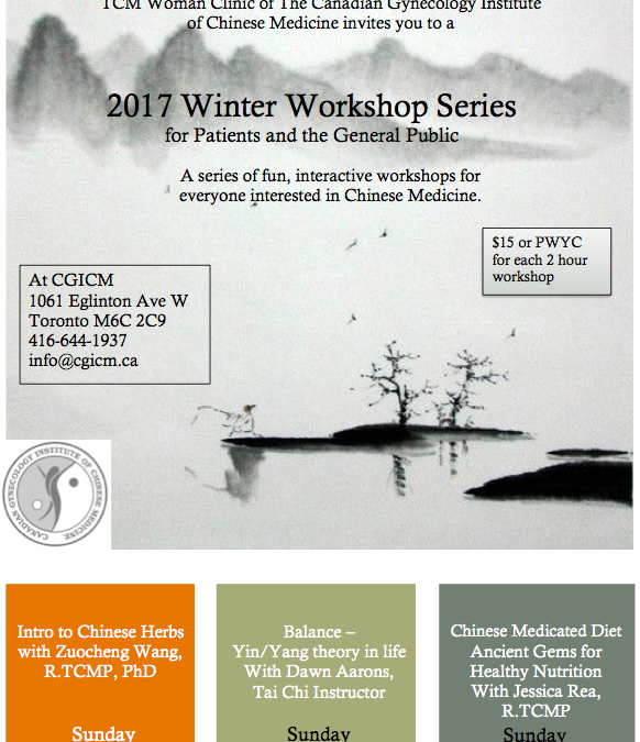 2017 Winter Workshop Series